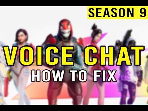 Voice Chat Fix Fortnite - Season 9 (PC)