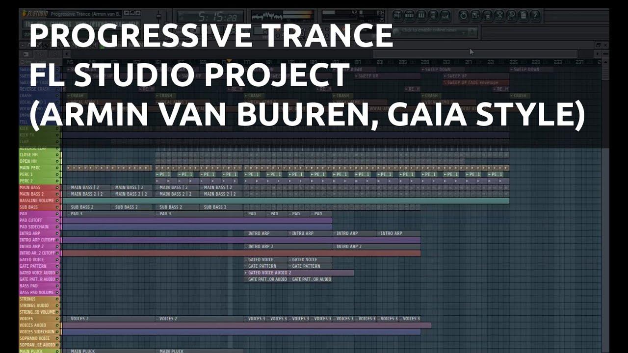 Progressive Trance FL Studio Project (Armin van Buuren ...