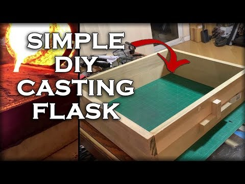 How To Make A Very SIMPLE Casting Flask At Home - DIY Metal Casting Box
