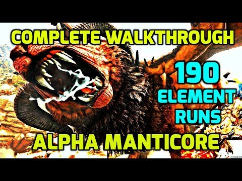 Ark Survival: Easiest Way To Defeat Manticore Boss On Hard - Complete Walkthrough -