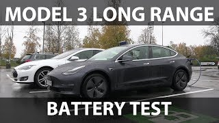 Model 3 Long Range battery capacity test