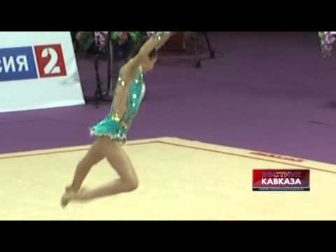 Выступление грузинской гимнастки на Гран-При 2014