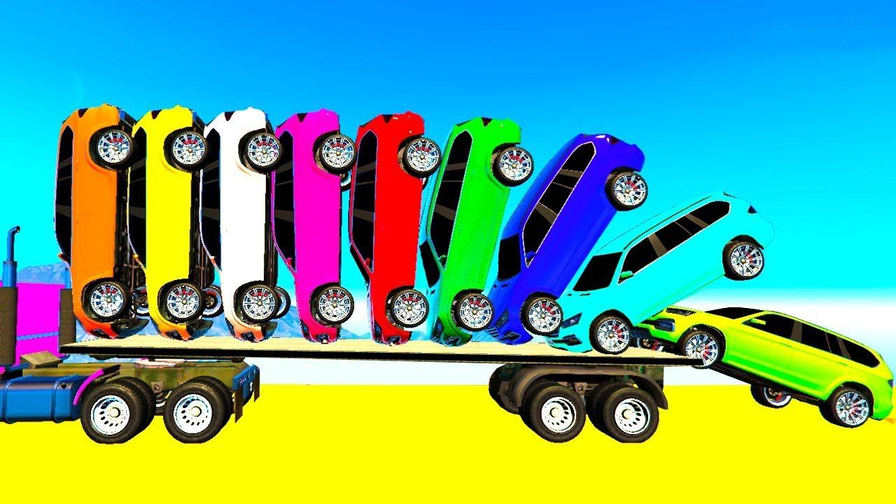 Voitures les camions en Couleurs pour Enfants Dessin Animé et Comptines Bébé Français #56   cfk ...