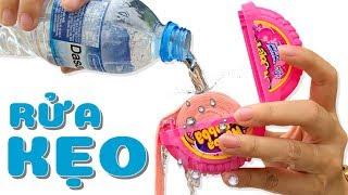 100% Rửa Kẹo Hubba Bubba Bằng Nước ❤SUBI TV❤