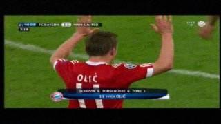 Fc Bayern München vs Manchester United  Olić  Tor