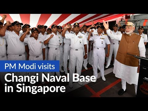 PM Modi visits Changi Naval Base in Singapore | PMO