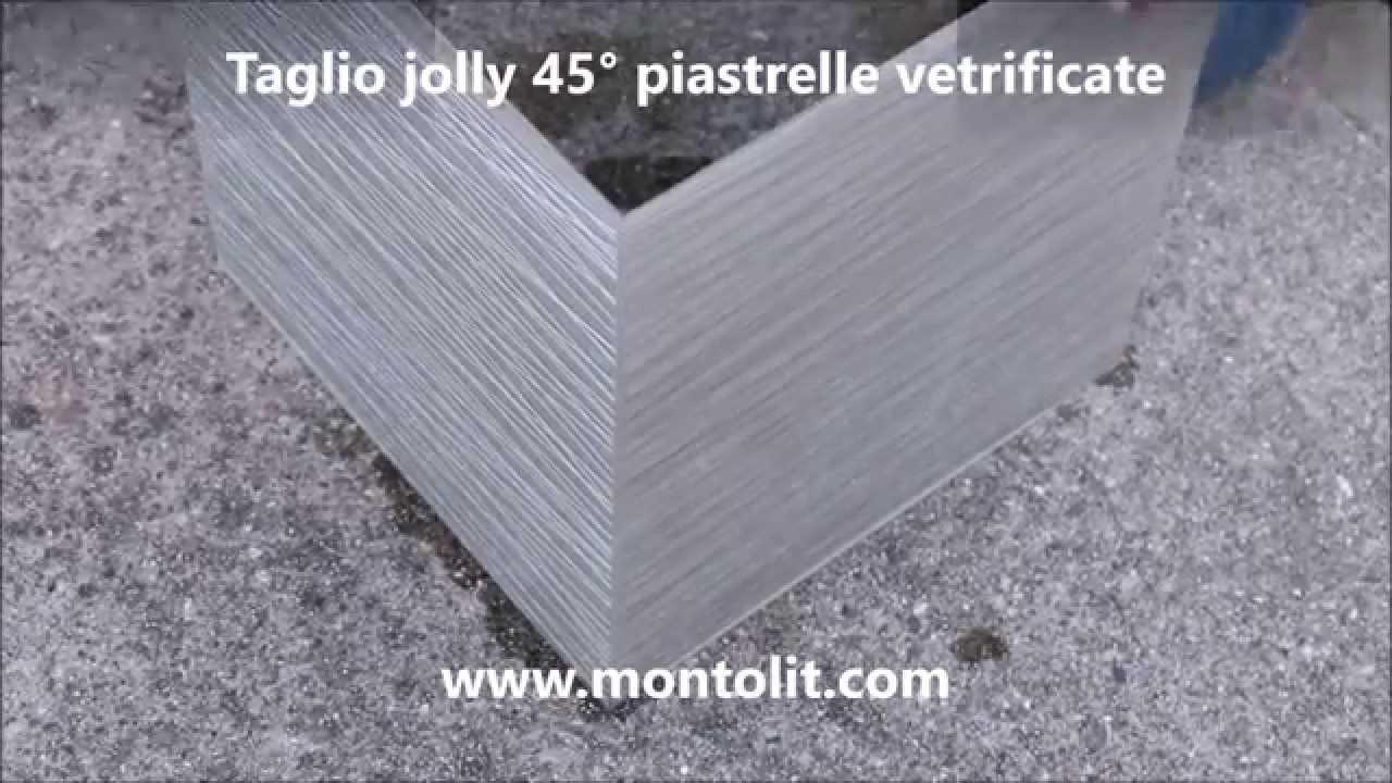 taglio jolly 45 gradi piastrelle vetrificate - youtube - Piastrelle Con Becco