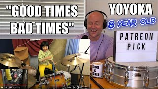 Drum Teacher Reacts: YOYOKA   Hit Like A Girl Contest   'Good Times Bad Times' - LED ZEPPELIN Cover