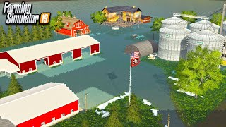 GIANT FARM FLOOD OF 2020! EVACUATION TIME* (ROLEPLAY) | FARMING SIMULATOR 2019