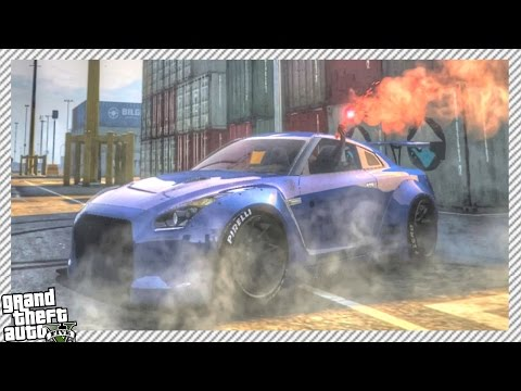 GTA 5 DRIFTING MOD - Drifting Epic Nissan GTR R35 | Massive Drift Race (GTA 5 PC Drifting Gameplay)