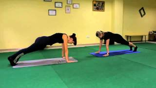 Оксисайз, упражнение упор лежа для рук, спины, пресса  Видео урок онлайн
