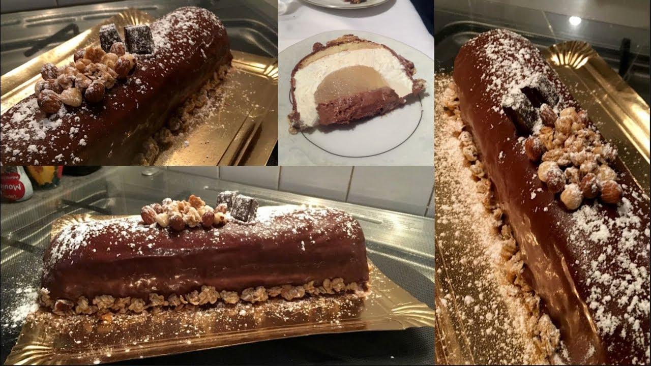 Bûche Poire chocolat - Recette SOCOOKING
