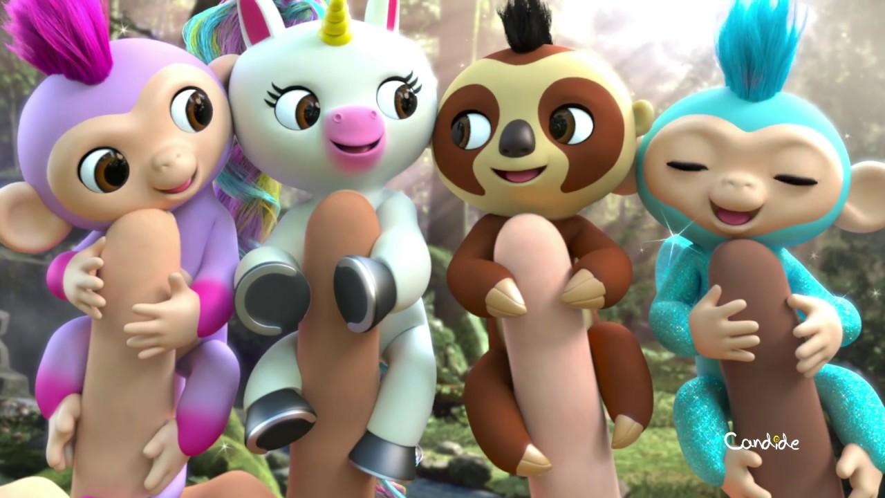 bfdece170 Família Fingerlings | Macaco, Unicórnio e Bicho-Preguiça - Candide  Brinquedos