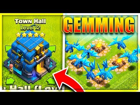 Gemming *NEW* Townhall 12 & Electro Dragons in Clash of Clans!