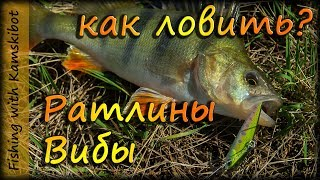 Как ловить на ратлины и вибы летом на спиннинг, на примере Kosadaka Ion Vib