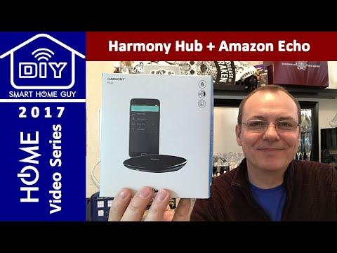 logitech-harmony-hub-+-amazon-echo-dot-+-vizio-4k-display-+-home-entertainment-center