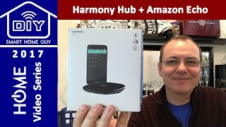 Logitech Harmony Hub + Amazon Echo Dot + Vizio 4K Display + Home Entertainment Center