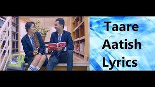 TAARE LYRICS | Aatish | Latest Punjabi Songs 2017 |