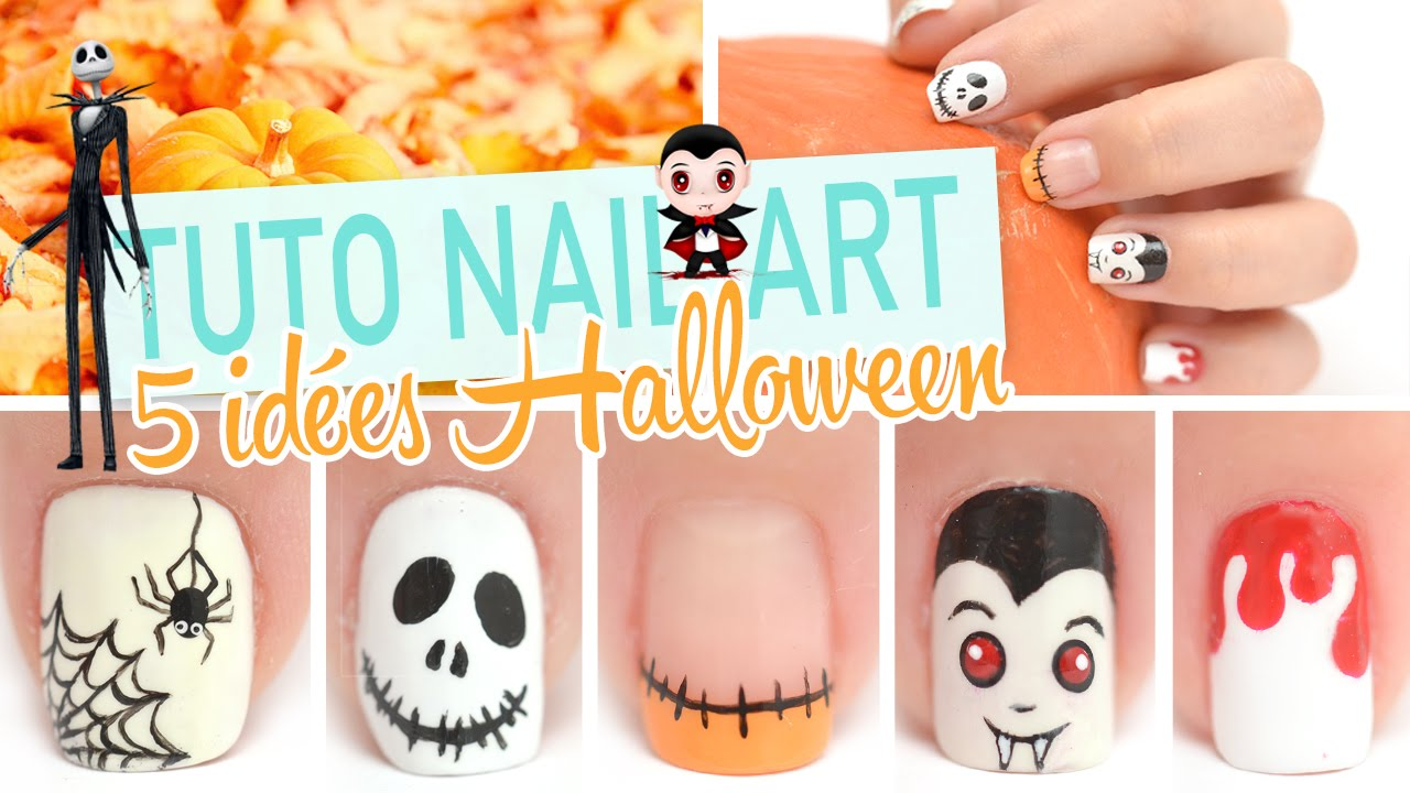 5 id es nail art pour halloween youtube. Black Bedroom Furniture Sets. Home Design Ideas