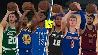 Which Position Is Better At Threes? Small Forwards or Power Forwards? NBA 2K18 Challenge!