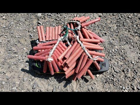 Sonim XP7 vs dozens of firecracker explosions