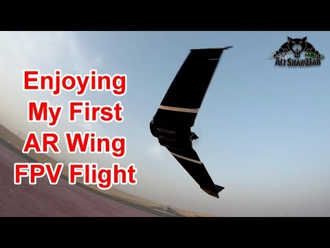 AR Wing FPV Flying Wing Maiden Flight and FPV