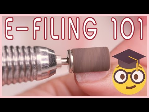How To Use An E-file Nail Drill On Acrylic Nails