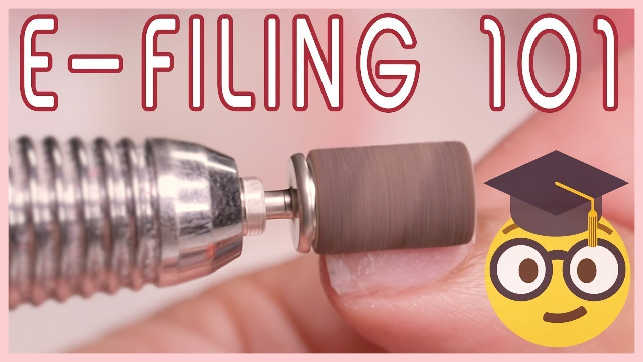 a972cb78efb How to use an E-file Nail Drill on Acrylic Nails - YouTube