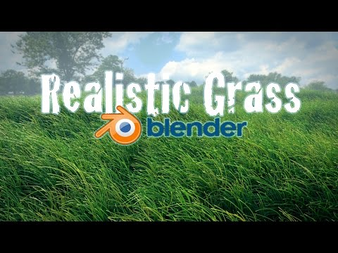 Beginner Blender Tutorial - Realistic Animated Grass!