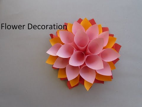 Big paper flowers DIY. Giant flowers DIY. Wall decor - Cindy DIY