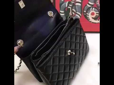 Chanel black bag,woman bag,brand bag