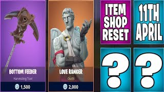 The Newest Fortnite Item Shop Daily Reset 11th April | BOTTOM FEEDER, LOVE RANGER