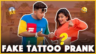 Fake Tattoo Prank on @Awez Darbar 😂❤️ || Anam Darbar