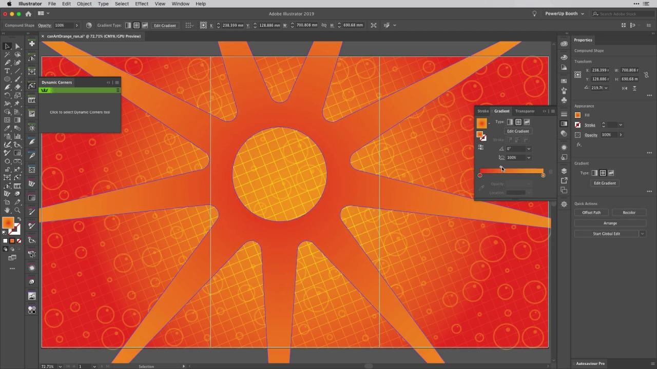 Branding Design Project - 10 Background Design | DynamicShapes + Phantasm v4