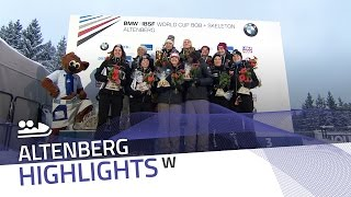 Humphries-Lotholz leave one's mark in Altenberg | IBSF Official