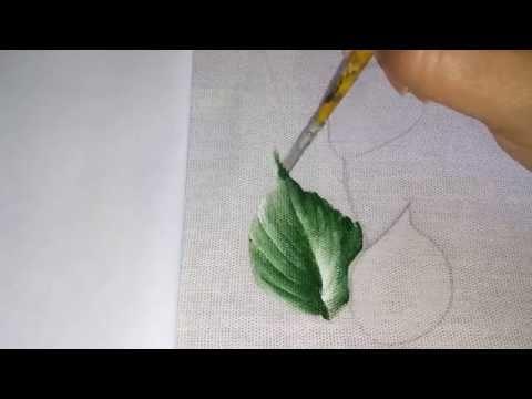 Como pintar folha, para iniciantes. Aprenda de forma rápida e fácil.
