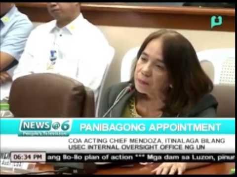 News@6: COA Acting Chief Mendoza, itinalagang Usec. Internal Oversight Office ng U.N.