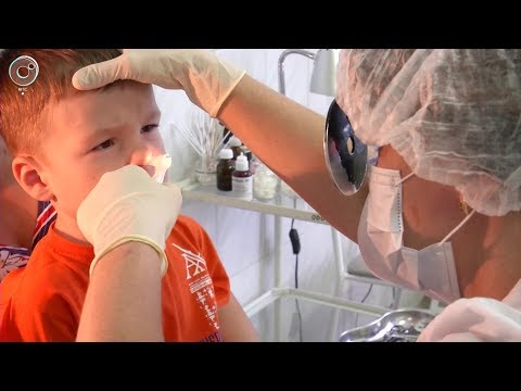 Как удаляют аденоиды у детей видео под местным наркозом