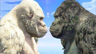 WHITE KING KONG VS KING KONG - Epic Monsters Battle