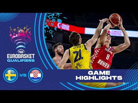 Sweden - Croatia | Highlights - FIBA EuroBasket 2022 Qualifiers