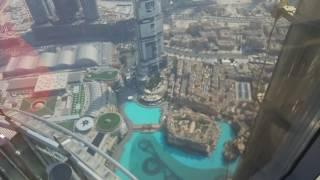 Widok ze 125 piętra Burj Khalifa view from 125 lvl
