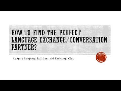 How to find the perfect language exchange/conversation partner?
