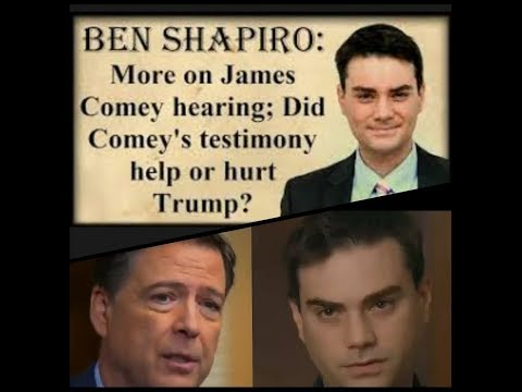 JUST IN!!!  Watch Ben Shapiro destroy James Comey on his show 'He is a political actor'