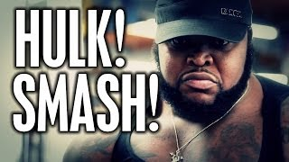 "Video HULK SMASH!  CT FLETCHER INTRODUCES ""DA HULK"" download MP3, 3GP, MP4, WEBM, AVI, FLV September 2018"