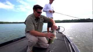 Hooked Up! Bass: Crankbaits on mid-depth rocks for late-summer Largemouth Bass