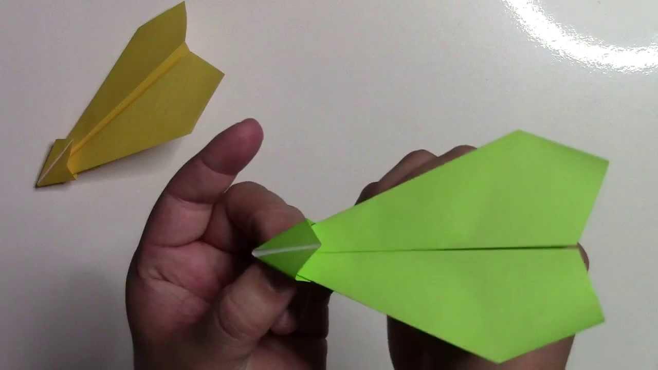 折り紙 紙飛行機の作り方