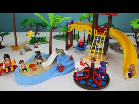 Thumbnail: Playmobil Children's Playground Park Playset Build and Play - Fun Toys For Kids