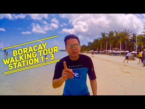 Boracay Full Walking Tour White Beach Station 1 - 3 by HourPhilippines.com