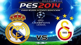 PES 2014 UEFA Champions League Real Madrid C.F. vs Galatasaray FC Group Stage Matchday2