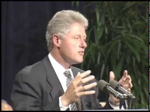 President Clinton at Heads of State Reception (1995)